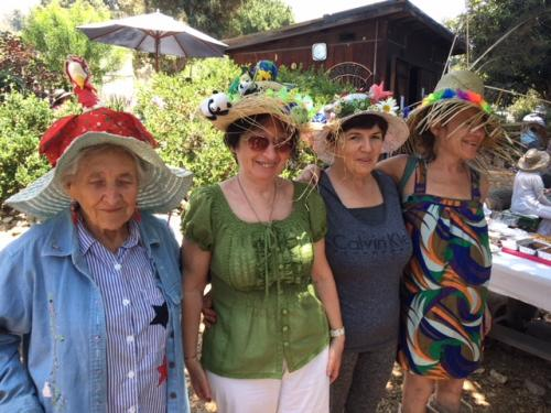 The four hat contest entrants -- all winners!
